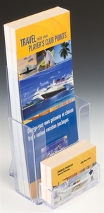 an example of a counter top holder for rack cards - Rack Cards