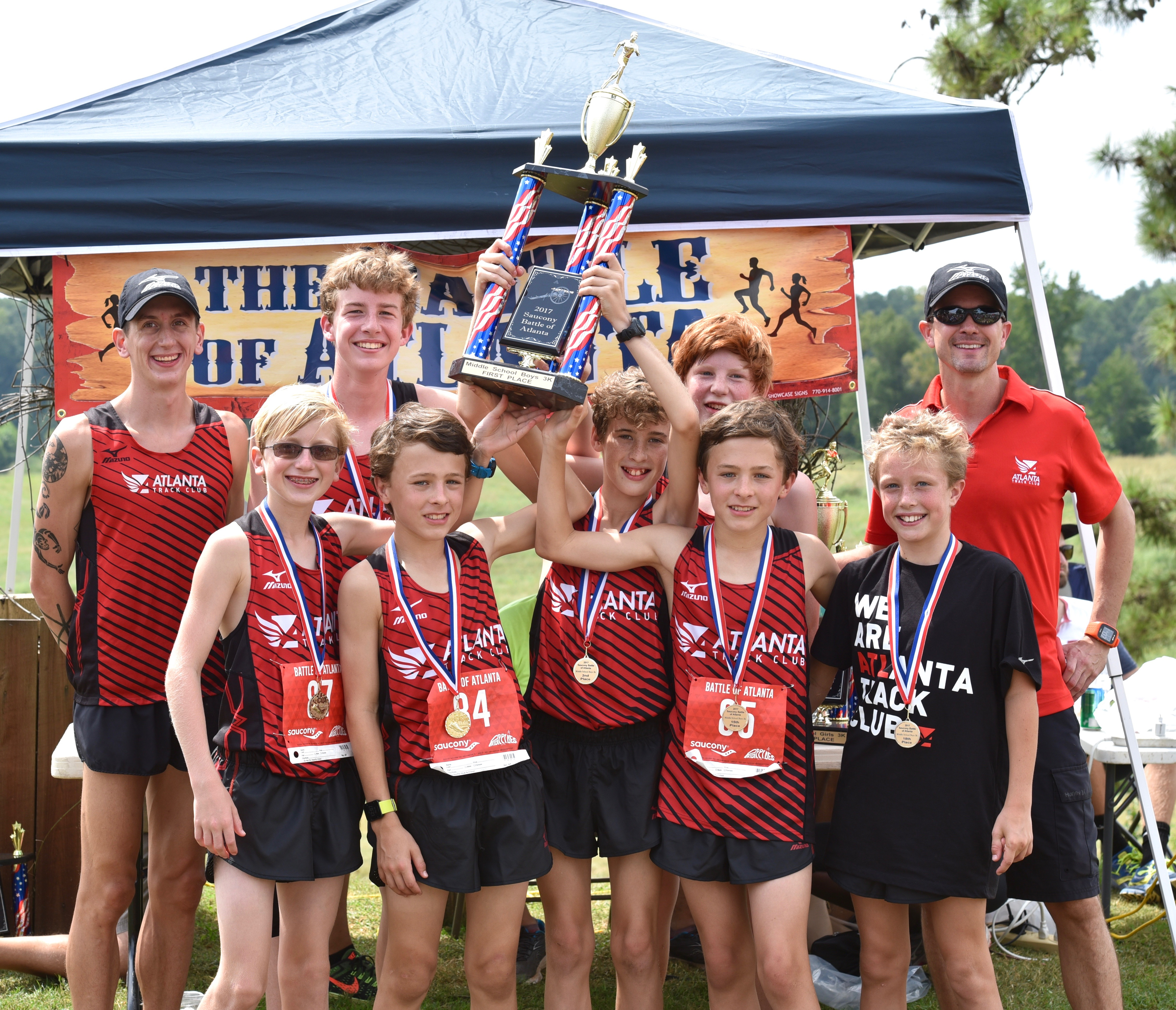 The Boys of Atlanta Track Club's Youth XC Team Win Big at First Meet