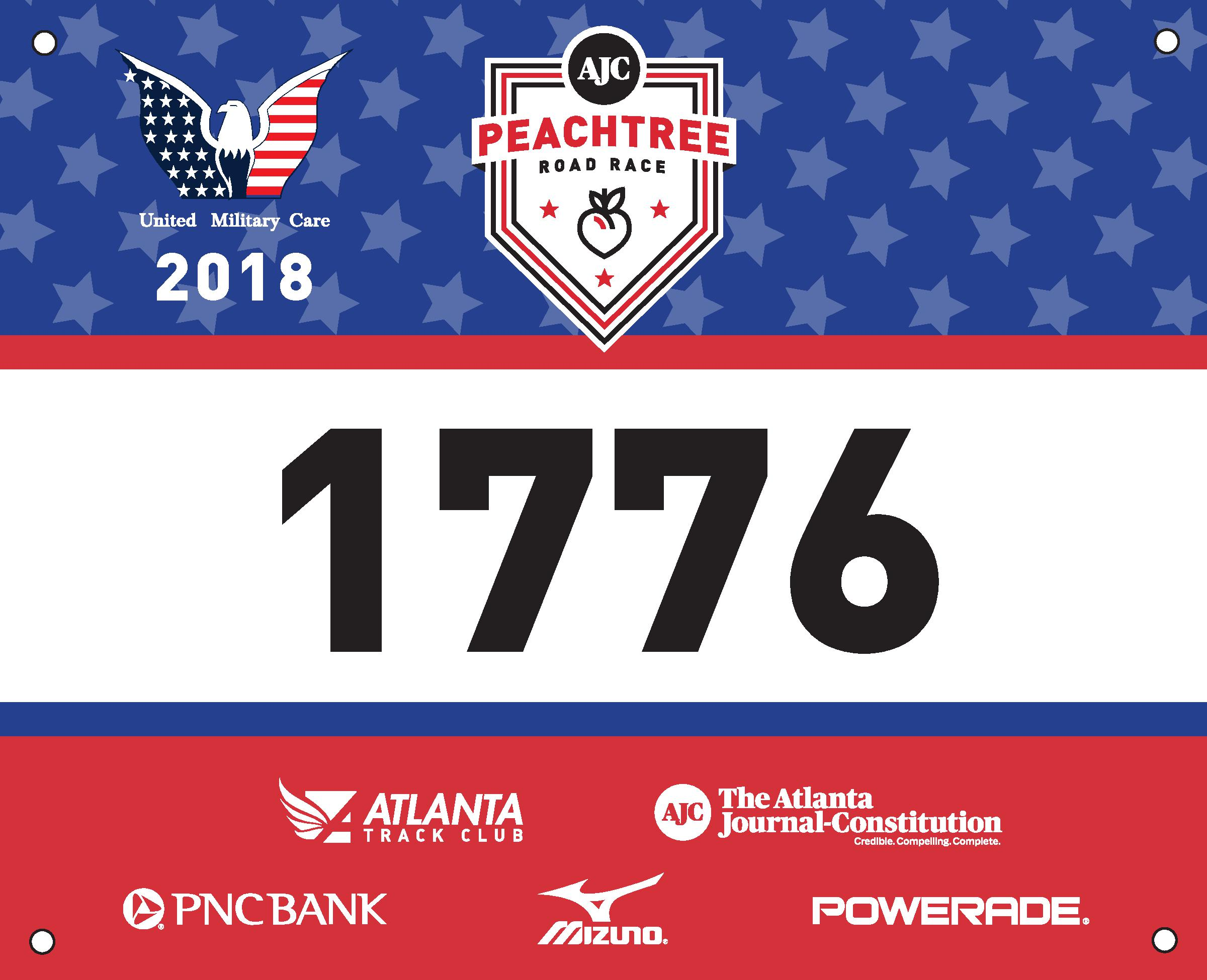 Commemorative Race Number to Honor Military at AJC Peachtree Road Race