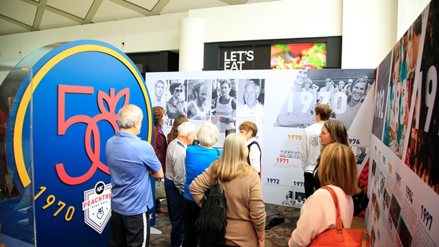 "Atlanta Track Club and PNC Bank Unveil ""50 Years of the Peachtree"" Traveling Exhibit"