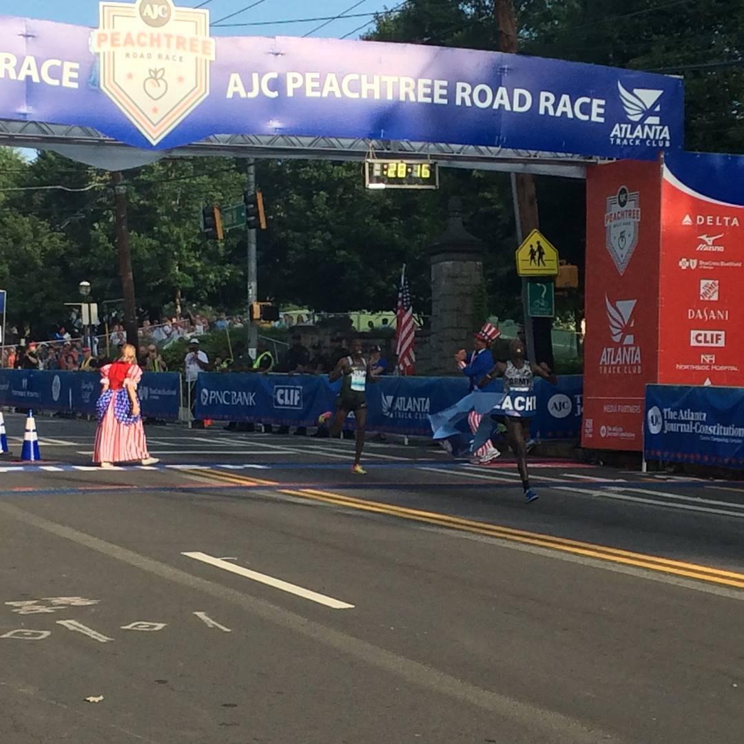 Korir, Tuliamuk Win USA 10 km Championships at AJC Peachtree Road Race