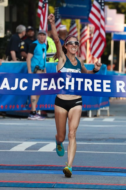 Bruce and Lagat are Peachtree Champions