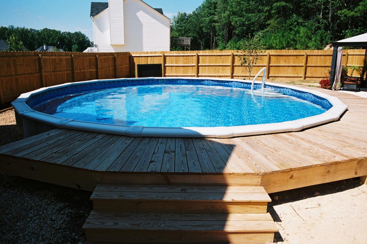 Installed Aboveground Pool Gallery Doughboy Brand