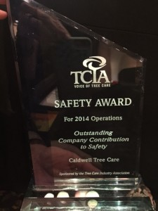 Congratulations to Caldwell Tree Care, Winner of TCIA Safety Award