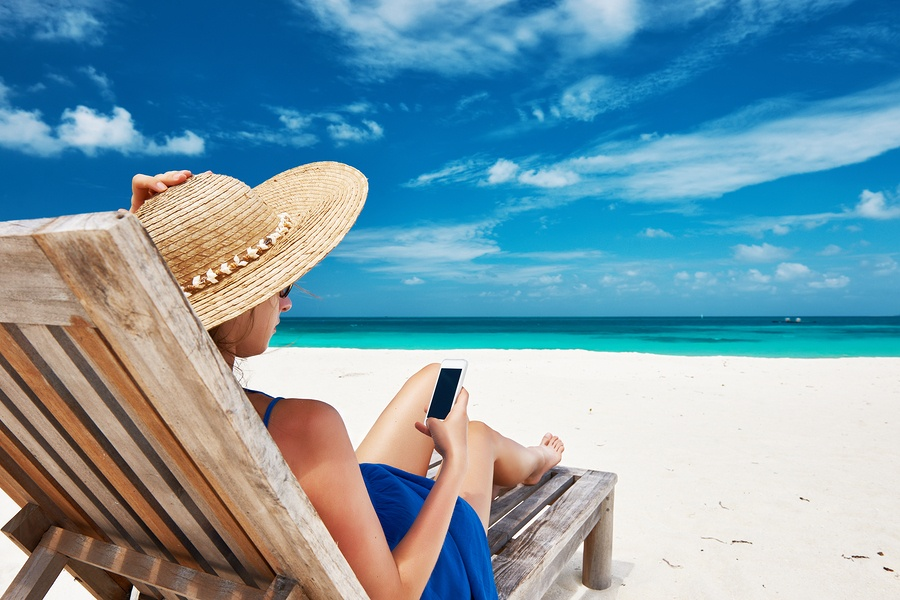 Mobile use on vacation