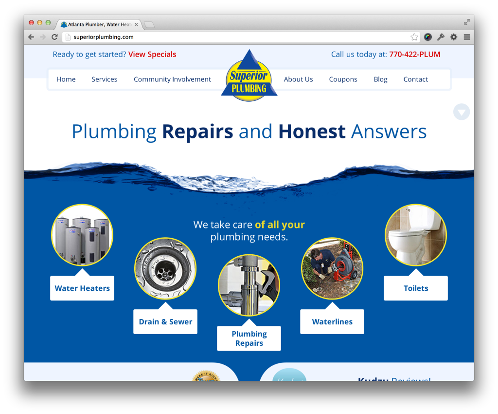 average plumbing for jo web your design homepage superior new not