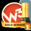 2016 W3 Award Winner Gold