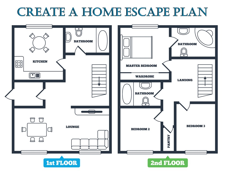 Fire escape plan emc security for How to get building plans for your house