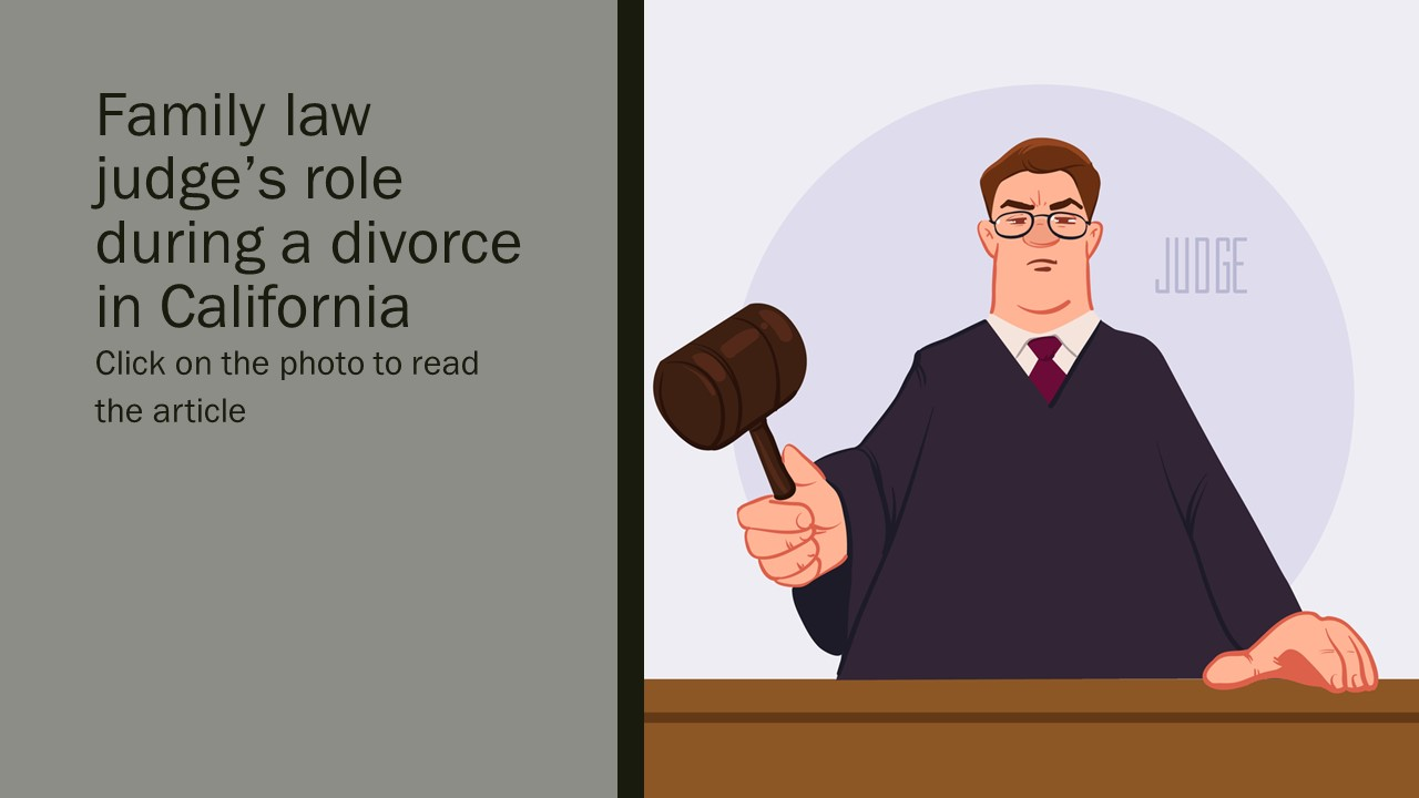 How does family law judge decide divorce in California