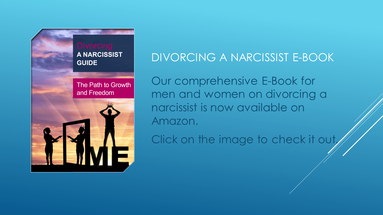 Image of Divorcing a Narcissist ebook and a link to that book on Amazon