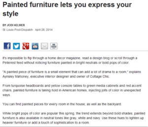 Painted furniture lets you express your style
