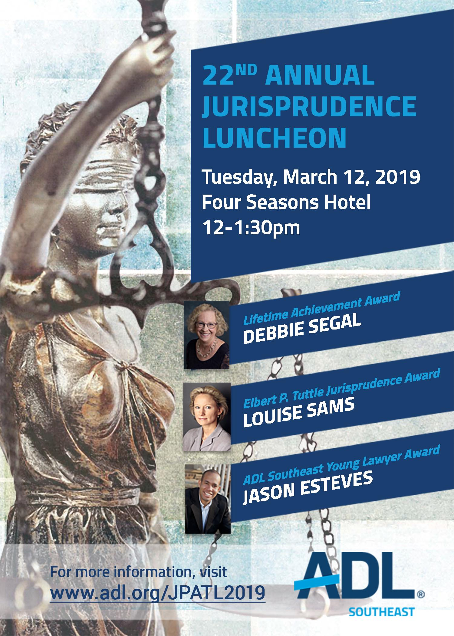 GlassRatner is a Proud Sponsor of the 22nd Annual ADL Southeast Jurisprudence Luncheon