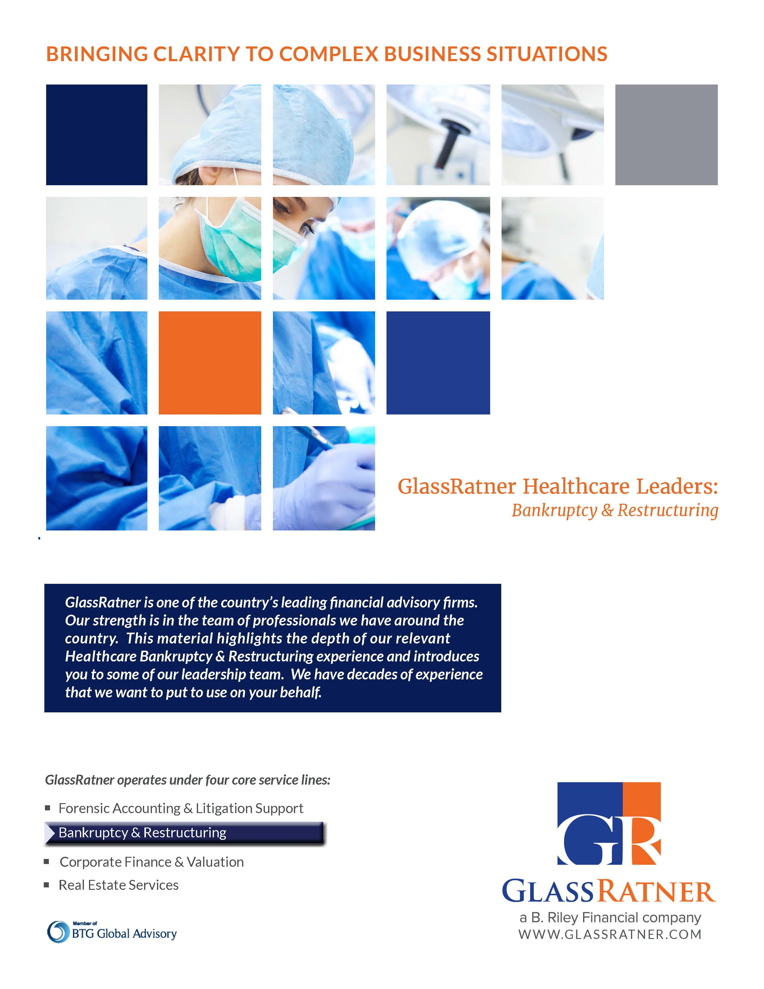 GlassRatner Releases Healthcare Leaders in Bankruptcy & Restructuring Brochure