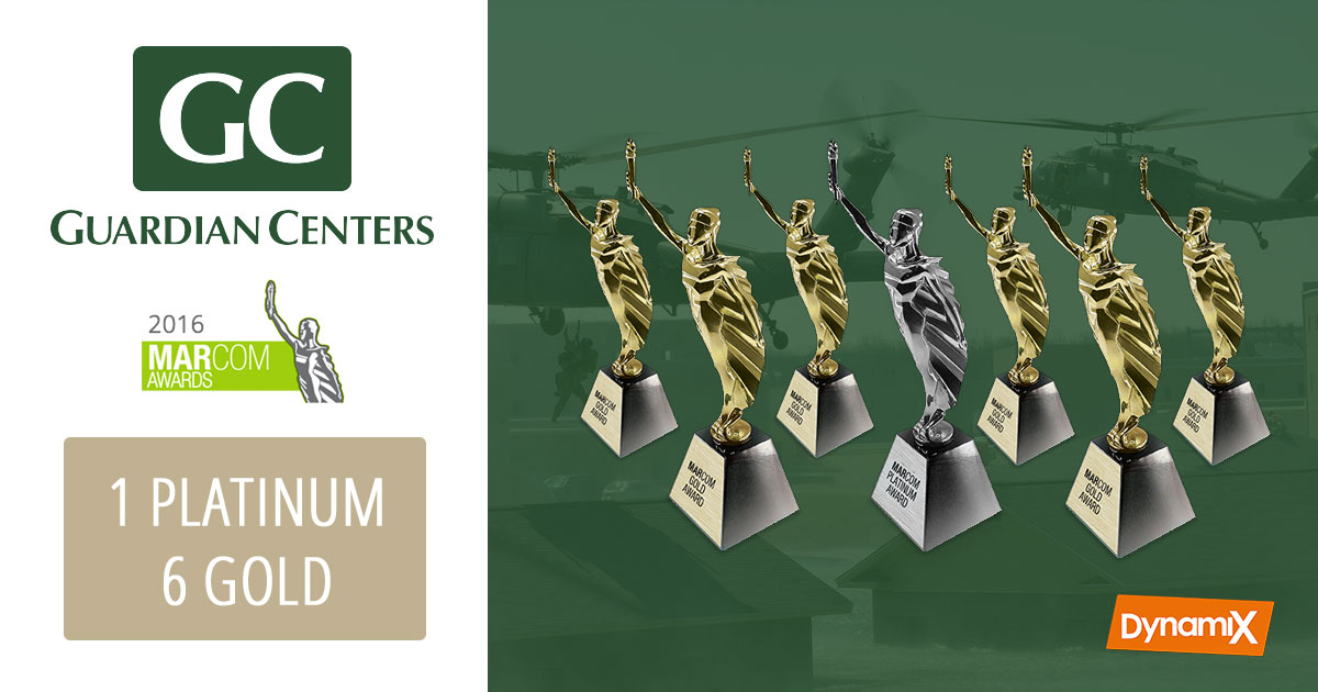 Guardian Centers website receives seven trophies for 2016 MarCom Awards!