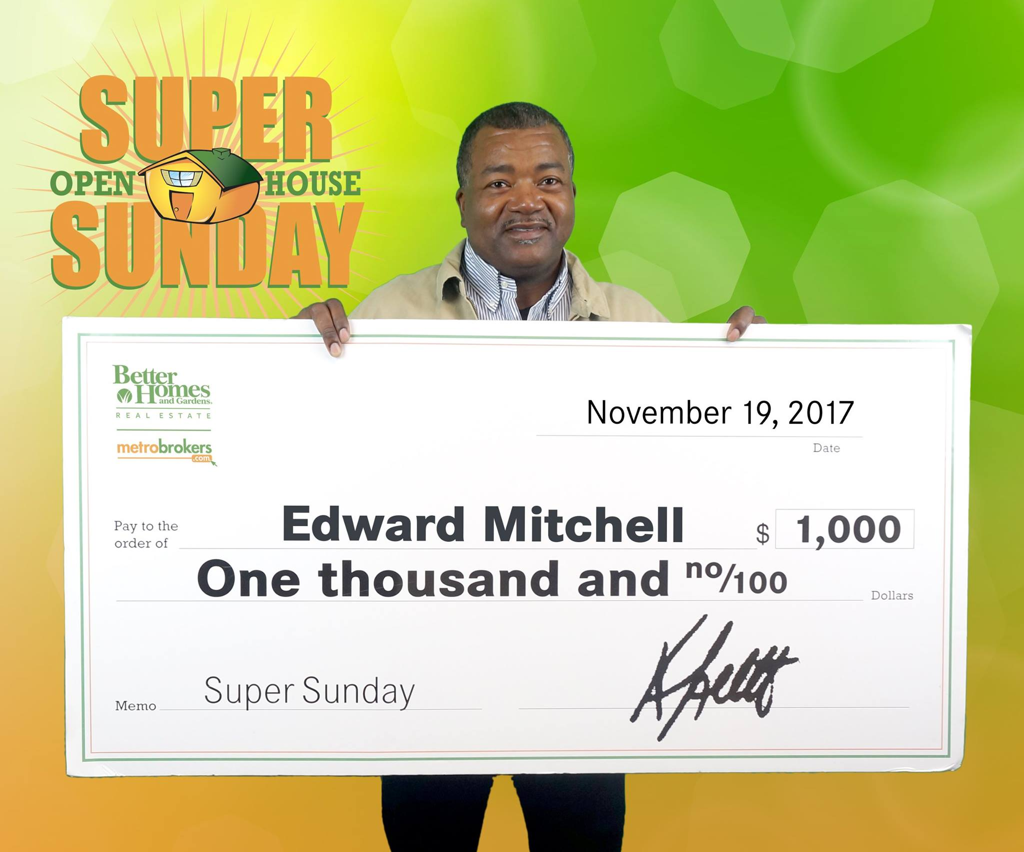 October Super Sunday Winner: Edward Mitchell!