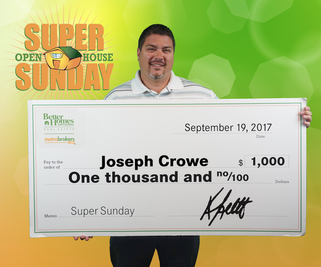 August Super Sunday Winner: Joseph Crowe!