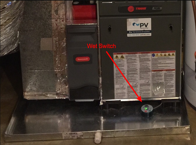 Air Handler with Wet Switch