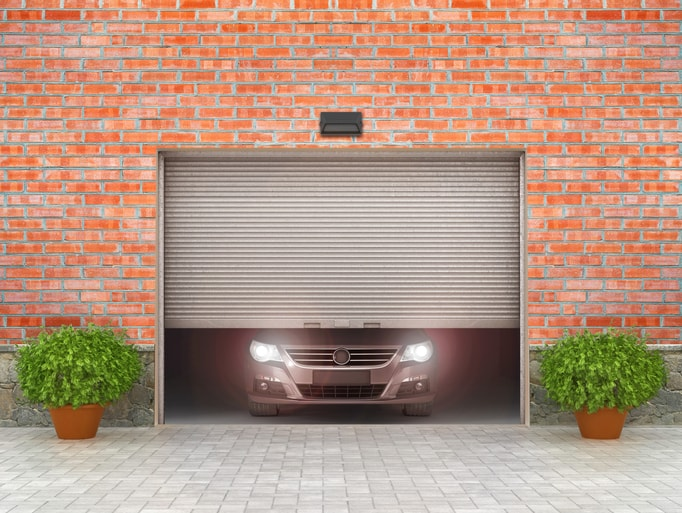 Car Inside Garage