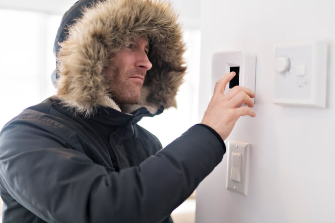 Man With Cold Spots Inside His House