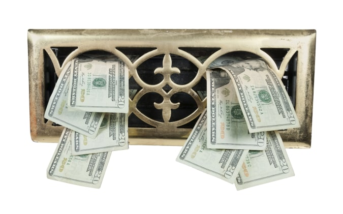 Supply Vent With Dollars