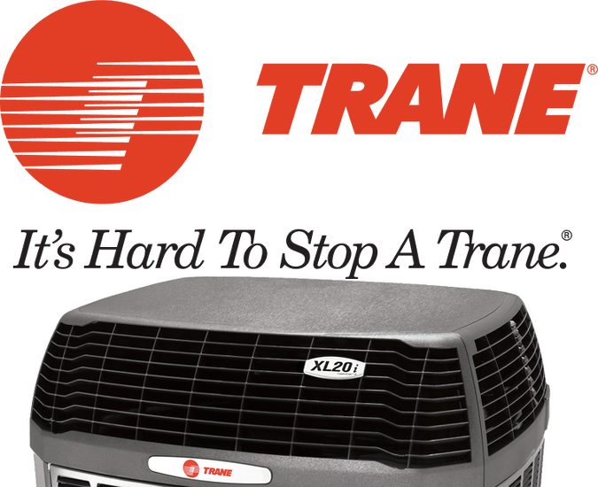 Trane Logo With Air Conditioner