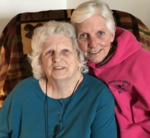 """Jean Green left and daughter Pam McClurg. """"She is looking better every day"""" Pam says."""