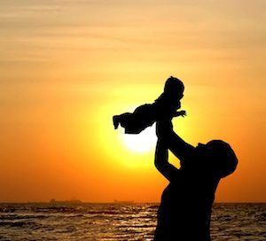 Parent bonding with child