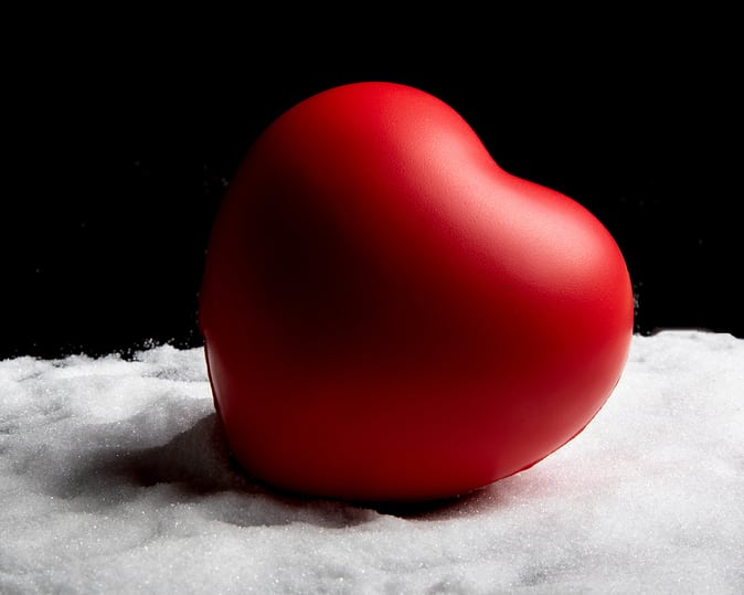 Healthcare concept with a heart on sugar for a healthy life