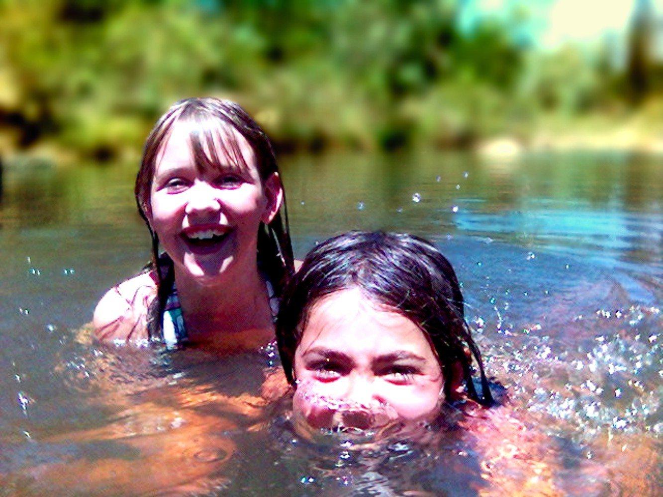 kids in water