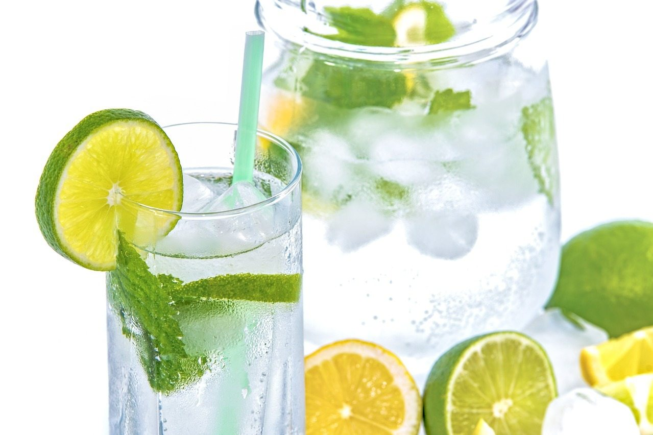lemons limes and water