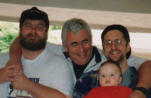 Grandfather with sons and grandson