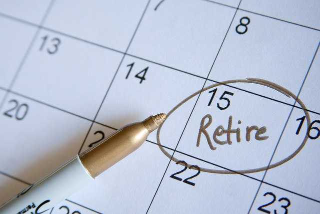 Calendar with retirement date