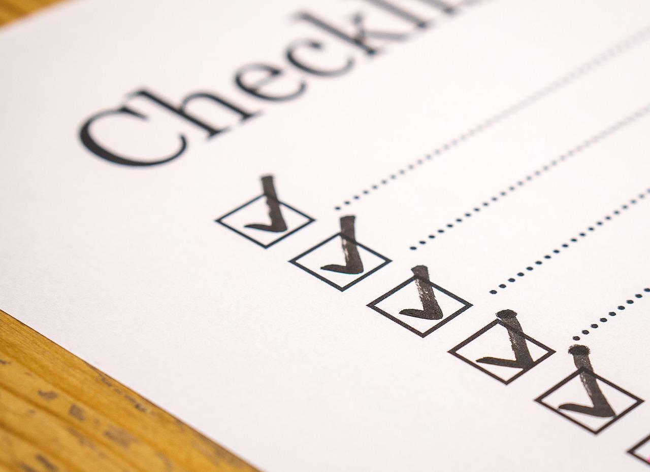 pre-death checklist