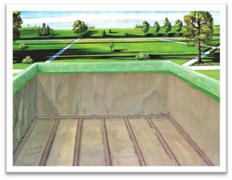 Lawn crypt drainage system
