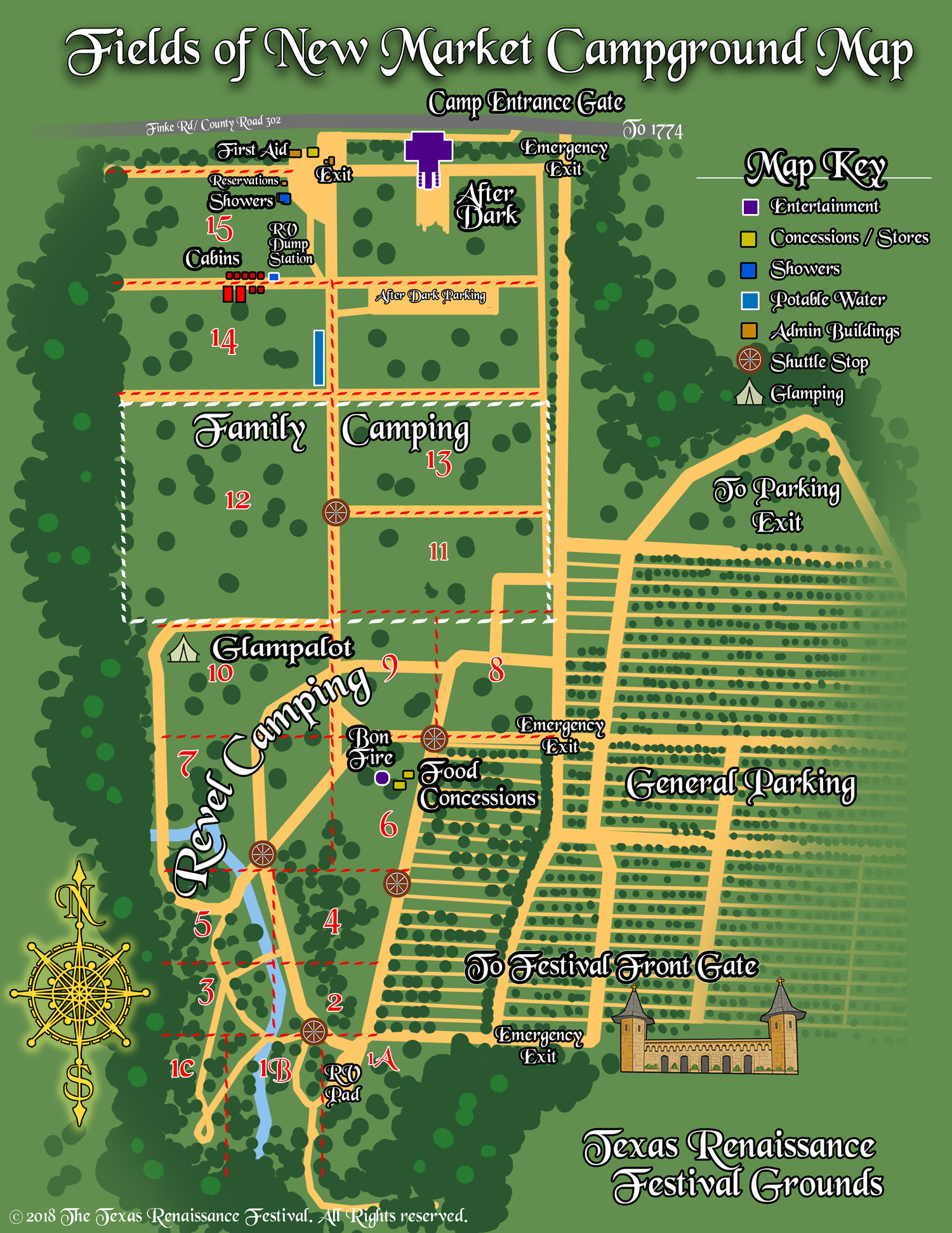 Texas Campground Map Camping | New Market Campground | Texas Renaissance Festival
