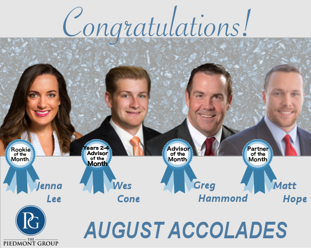 2018 August Accolades