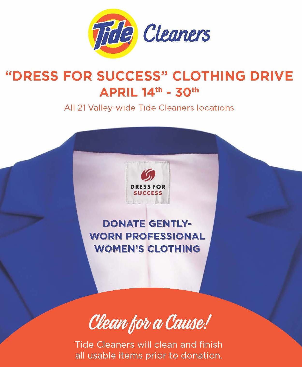 Win FREE Dry Cleaning for a Year on April 13th!
