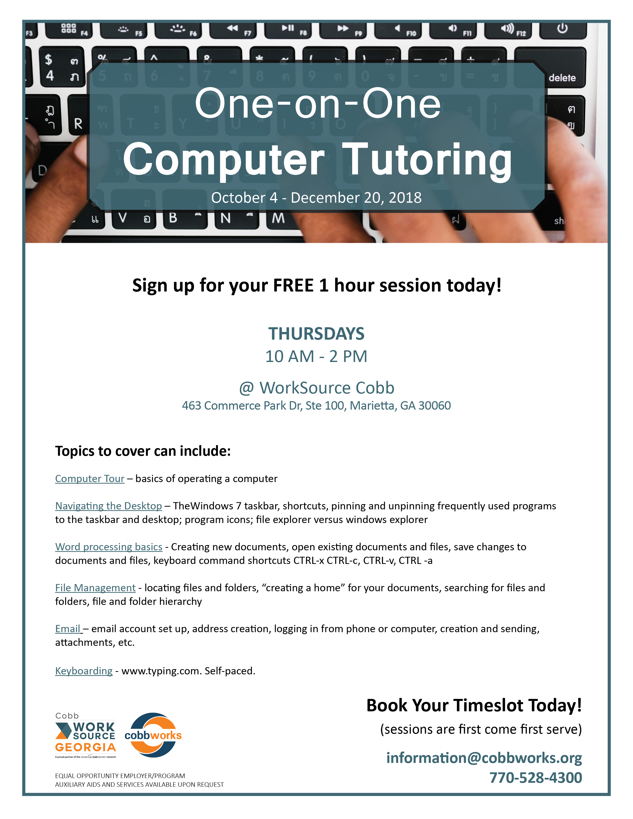 Cobb County Career Training Worksource Cobb