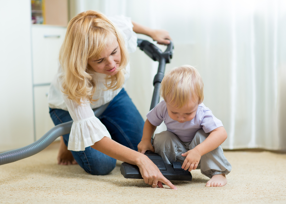 zerorez clean carpet happy family